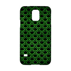 Scales2 Black Marble & Green Brushed Metal Samsung Galaxy S5 Hardshell Case