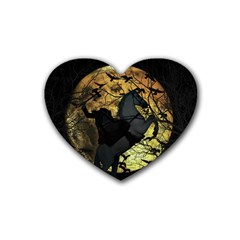 Headless Horseman Rubber Coaster (heart)  by Valentinaart