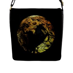 Headless Horseman Flap Messenger Bag (l)  by Valentinaart