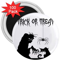 Halloween 3  Magnets (100 Pack) by Valentinaart