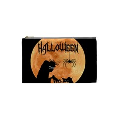 Halloween Cosmetic Bag (small)  by Valentinaart
