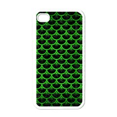 Scales3 Black Marble & Green Brushed Metal Apple Iphone 4 Case (white) by trendistuff
