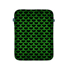 Scales3 Black Marble & Green Brushed Metal Apple Ipad 2/3/4 Protective Soft Cases by trendistuff