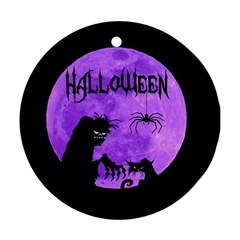 Halloween Round Ornament (two Sides) by Valentinaart