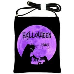 Halloween Shoulder Sling Bags by Valentinaart