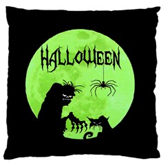 Halloween Large Flano Cushion Case (two Sides) by Valentinaart