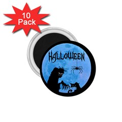 Halloween 1 75  Magnets (10 Pack)  by Valentinaart
