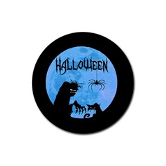 Halloween Rubber Round Coaster (4 Pack)  by Valentinaart