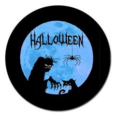 Halloween Magnet 5  (round) by Valentinaart