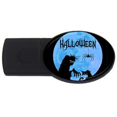 Halloween Usb Flash Drive Oval (2 Gb) by Valentinaart