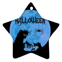 Halloween Star Ornament (two Sides) by Valentinaart