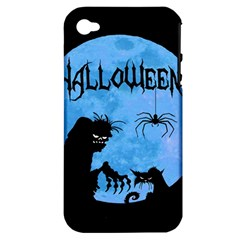 Halloween Apple Iphone 4/4s Hardshell Case (pc+silicone) by Valentinaart