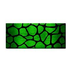Skin1 Black Marble & Green Brushed Metal Cosmetic Storage Cases by trendistuff
