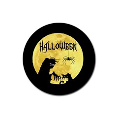 Halloween Rubber Coaster (round)  by Valentinaart