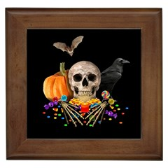 Halloween Candy Keeper Framed Tiles by Valentinaart