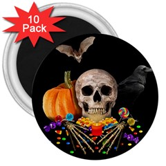 Halloween Candy Keeper 3  Magnets (10 Pack)  by Valentinaart