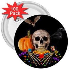 Halloween Candy Keeper 3  Buttons (100 Pack)  by Valentinaart