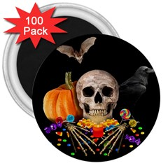 Halloween Candy Keeper 3  Magnets (100 Pack) by Valentinaart