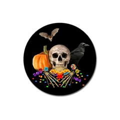 Halloween Candy Keeper Magnet 3  (round) by Valentinaart