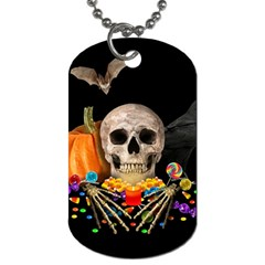 Halloween Candy Keeper Dog Tag (two Sides) by Valentinaart