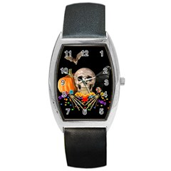 Halloween Candy Keeper Barrel Style Metal Watch by Valentinaart