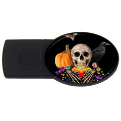 Halloween Candy Keeper Usb Flash Drive Oval (4 Gb) by Valentinaart