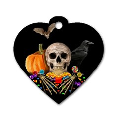 Halloween Candy Keeper Dog Tag Heart (one Side) by Valentinaart