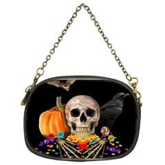 Halloween Candy Keeper Chain Purses (one Side)  by Valentinaart