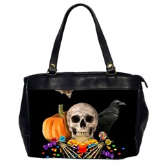 Halloween Candy Keeper Office Handbags (2 Sides)  by Valentinaart