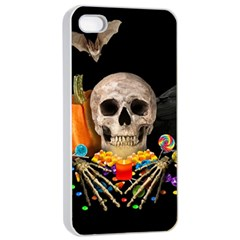 Halloween Candy Keeper Apple Iphone 4/4s Seamless Case (white) by Valentinaart