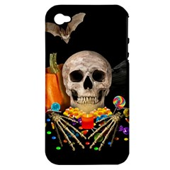 Halloween Candy Keeper Apple Iphone 4/4s Hardshell Case (pc+silicone) by Valentinaart