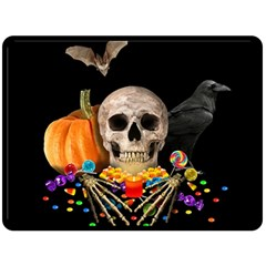 Halloween Candy Keeper Double Sided Fleece Blanket (large)  by Valentinaart