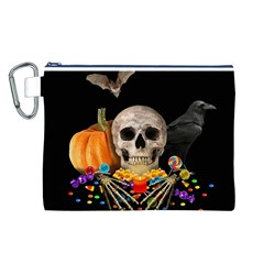 Halloween Candy Keeper Canvas Cosmetic Bag (l) by Valentinaart