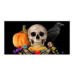 Halloween Candy Keeper Satin Wrap by Valentinaart