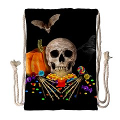 Halloween Candy Keeper Drawstring Bag (large) by Valentinaart
