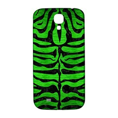 Skin2 Black Marble & Green Brushed Metal (r) Samsung Galaxy S4 I9500/i9505  Hardshell Back Case