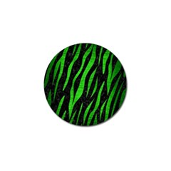 Skin3 Black Marble & Green Brushed Metal Golf Ball Marker by trendistuff