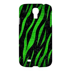 Skin3 Black Marble & Green Brushed Metal Samsung Galaxy S4 I9500/i9505 Hardshell Case by trendistuff