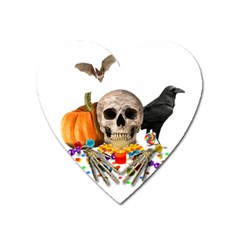Halloween Candy Keeper Heart Magnet by Valentinaart