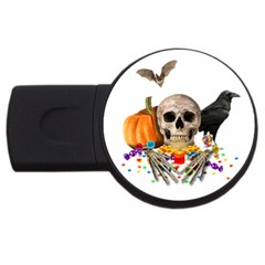Halloween Candy Keeper Usb Flash Drive Round (2 Gb) by Valentinaart