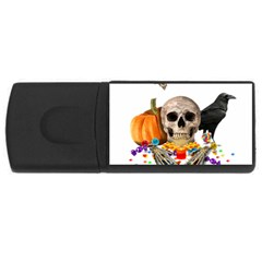 Halloween Candy Keeper Rectangular Usb Flash Drive