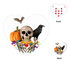 Halloween Candy Keeper Playing Cards (heart)  by Valentinaart