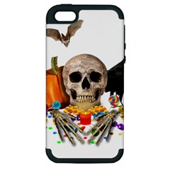 Halloween Candy Keeper Apple Iphone 5 Hardshell Case (pc+silicone) by Valentinaart