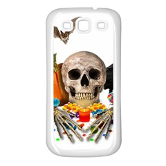 Halloween Candy Keeper Samsung Galaxy S3 Back Case (white) by Valentinaart