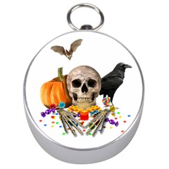 Halloween Candy Keeper Silver Compasses by Valentinaart