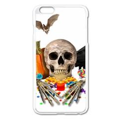 Halloween Candy Keeper Apple Iphone 6 Plus/6s Plus Enamel White Case by Valentinaart