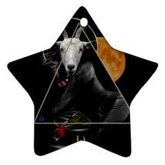 Spiritual Goat Ornament (star) by Valentinaart