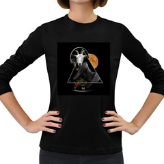Spiritual Goat Women s Long Sleeve Dark T Shirts by Valentinaart