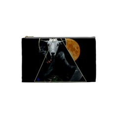 Spiritual Goat Cosmetic Bag (small)  by Valentinaart