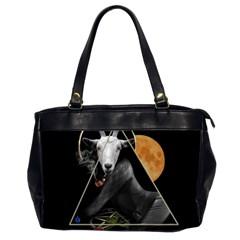 Spiritual Goat Office Handbags (2 Sides)  by Valentinaart